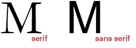 serif vs.sans